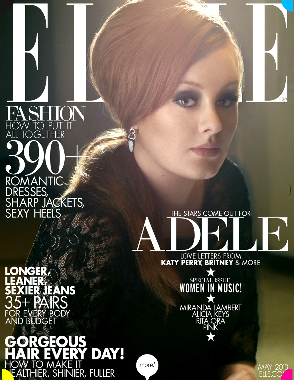 Adele radiaza pe coperta Elle Magazine pentru luna mai
