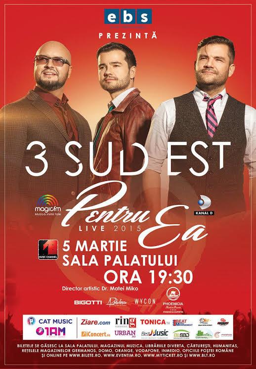 """""""Pentru ea"""" – concert 3 Sud Est la Sala Palatului"""