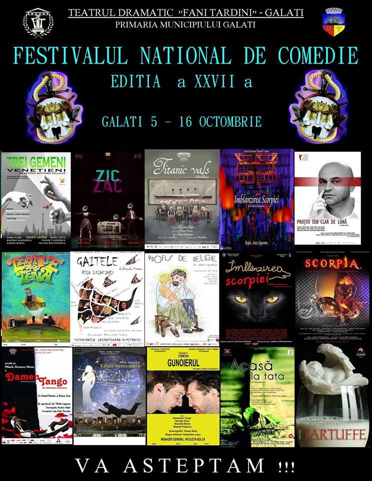 Teatrul Fani Tardini din Galati isi deschide portile pentru noua editie a Festivalului national de comedie