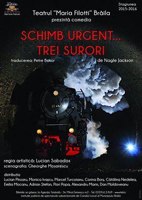 """""""Teatrul Maria Filotti"""" Braila se pregateste pentru o noua premiera – """"Schimb urgent …trei surori"""""""