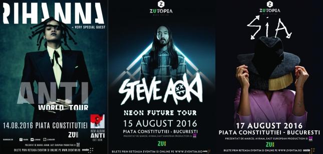 Rihanna si Sia vin in Romania! Astazi se pun in vanzare biletele!