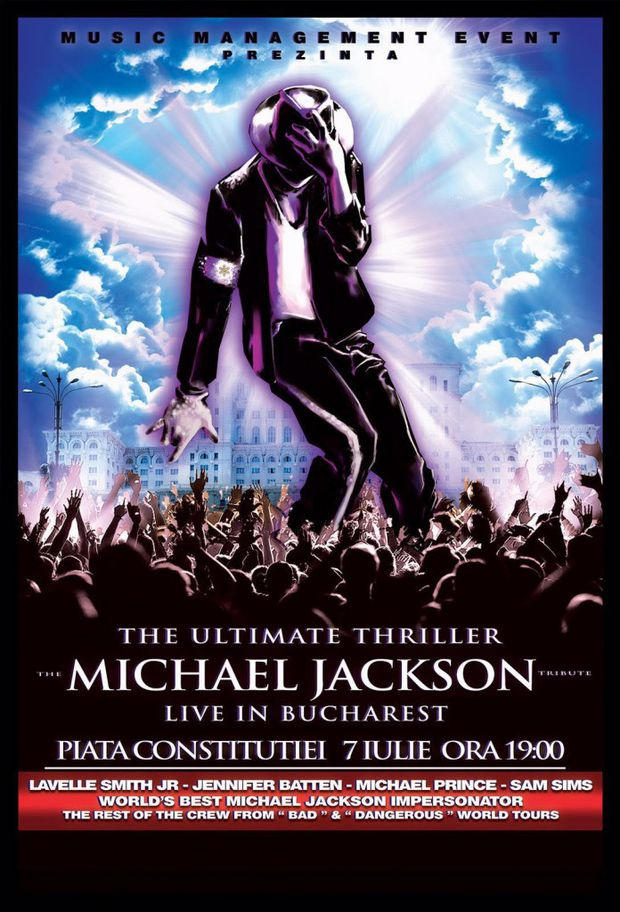 """The Ultimate Thriller – The Michael Jackson Tribute – LIVE in Bucharest"""