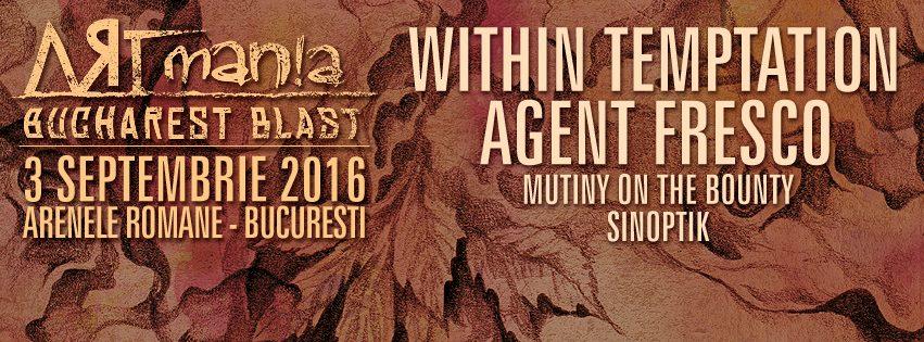 Within Temptation canta din nou la Bucuresti in cadrul ARTmania Bucharest Blast