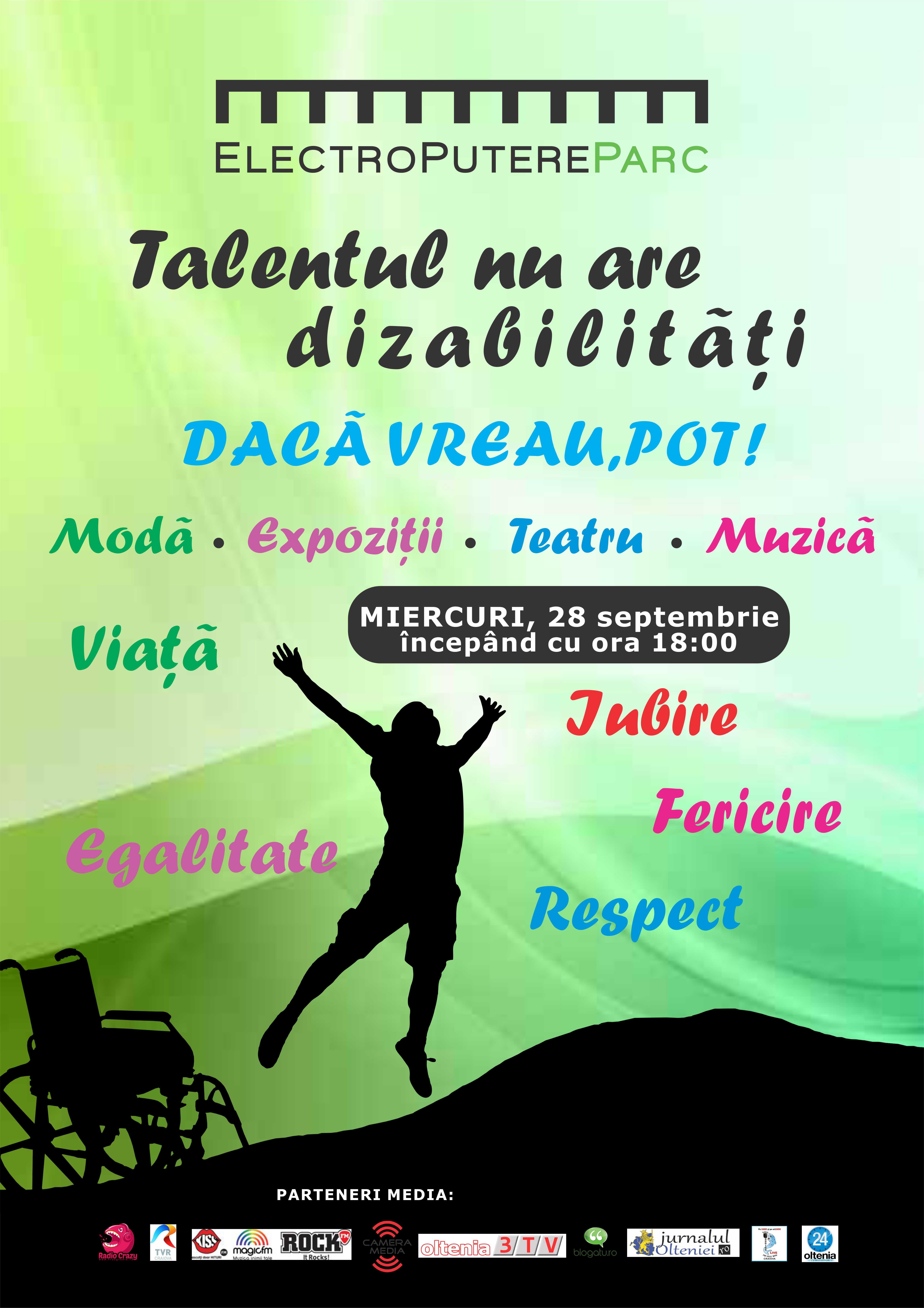 """""""Talentul nu are dizabilitati"""" – primul eveniment din Craiova dedicat persoanelor speciale"""