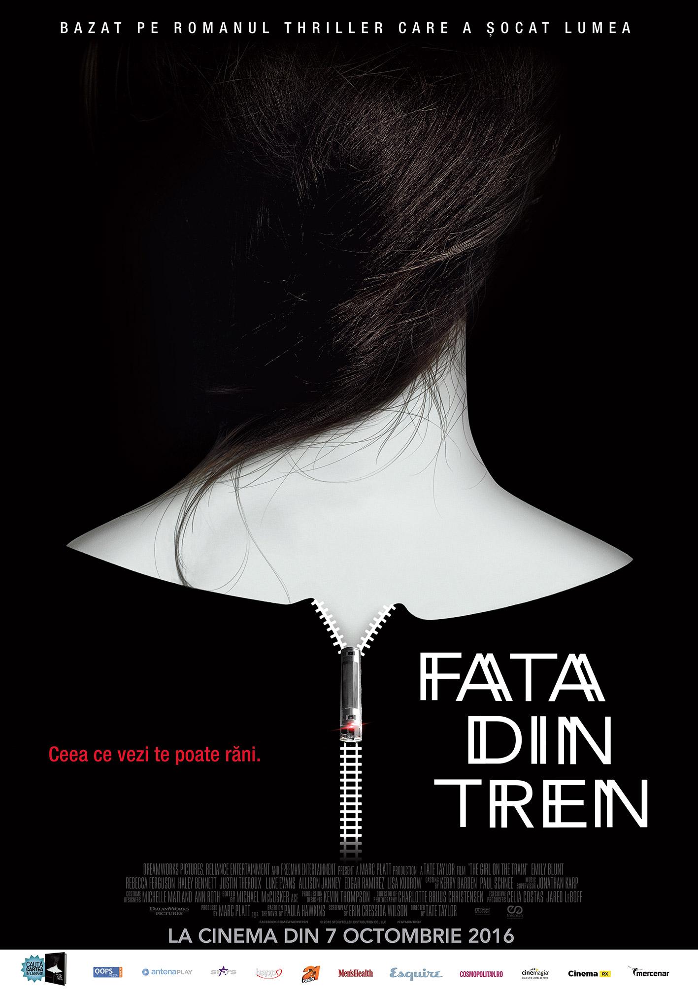 """,,Fata din tren"""" se lanseaza din 7 octombrie in cinematografe"""