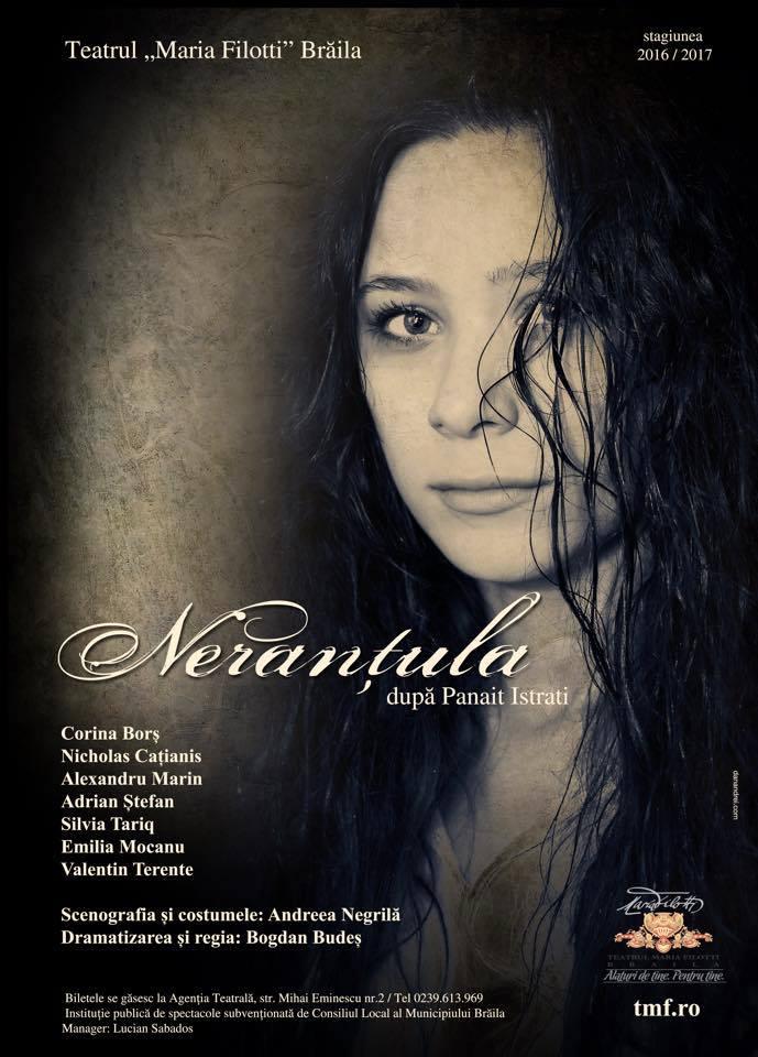 """""""Nerantula"""", o noua poveste plina de farmec prezentata de Teatrul """"Maria Filotti"""" Braila"""