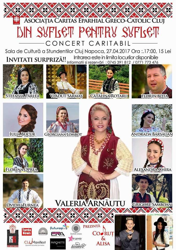 Artisti veritabili ai muzicii populare romanesti canta Din suflet pentru suflet intr-un nou  concert caritabil la Cluj