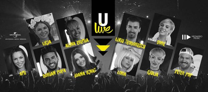 Universal Music Romania & MediaPro Music lanseaza ULive Session