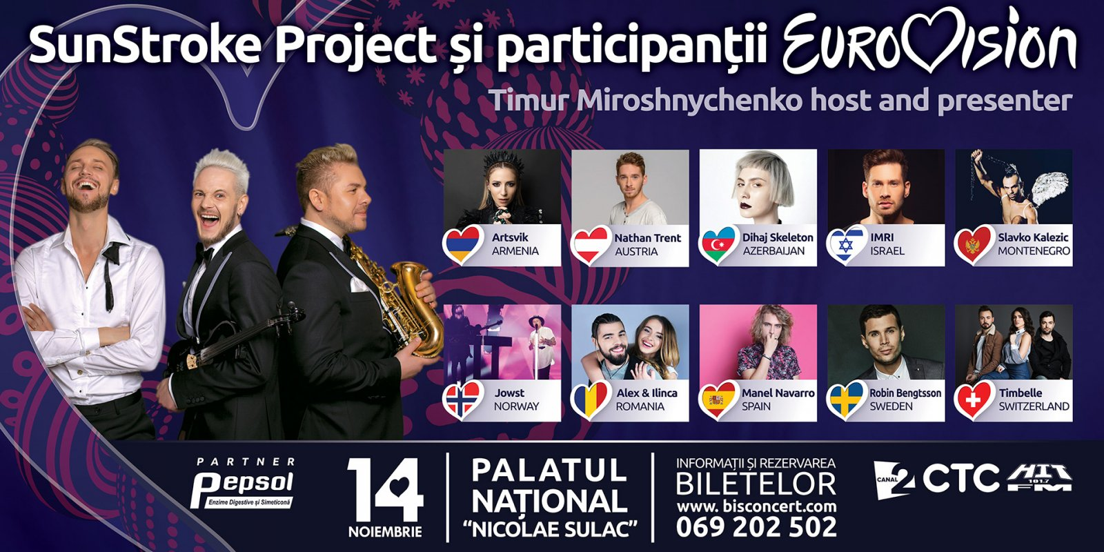 Eurovision Party aduce in Moldova starurile Eurovision 2017