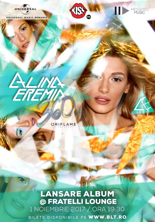 Alina Eremia lanseaza primul album din cariera, printr-un concert eveniment!