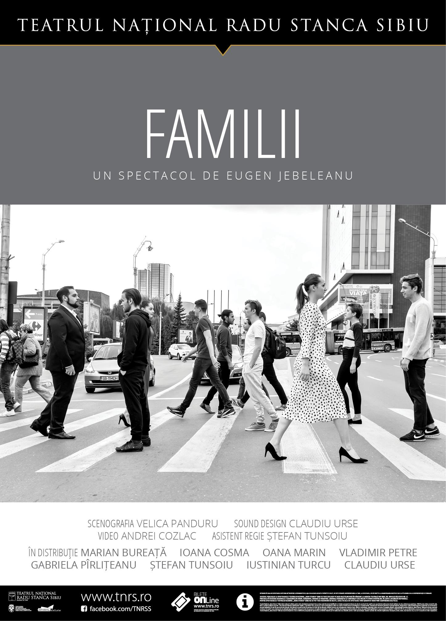 """""""Familii"""" – un spectacol-eveniment pe scena Teatrului """"Maria Filotti"""" Braila"""