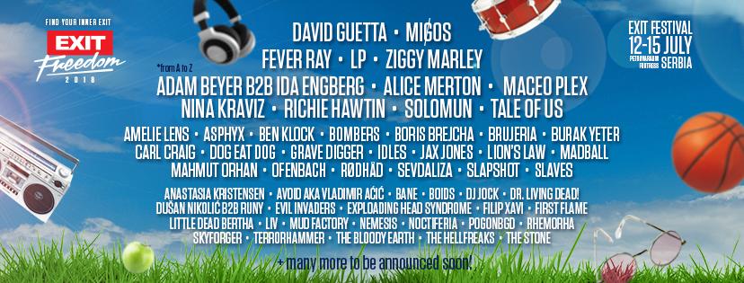 Migos, LP si David Guetta headlineri la EXIT Festival 2018!