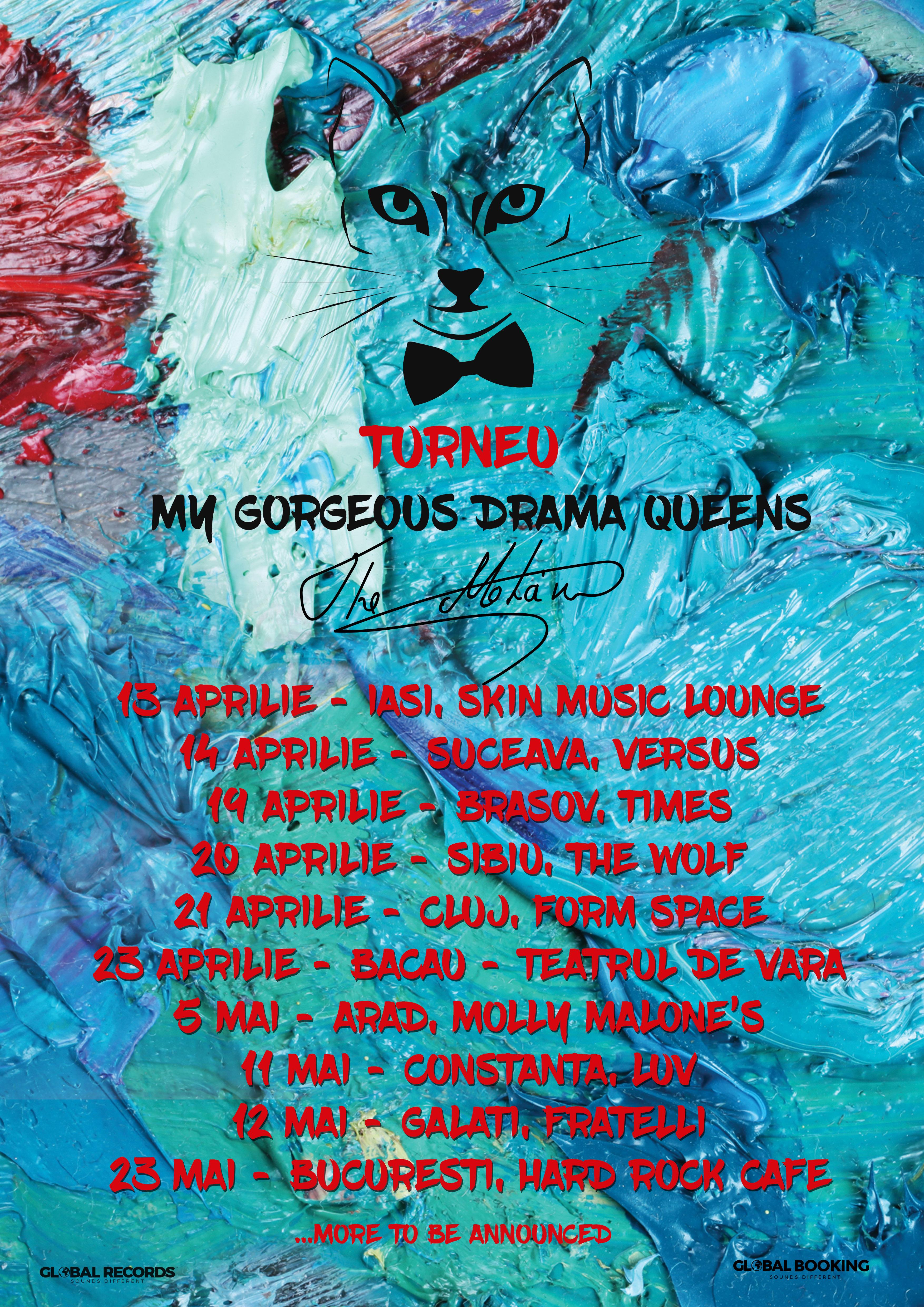 """Trupa The Motans pregateste super concerte pentru fanii sai din toata tara, in turneul """"My Gorgeous Drama Queens"""""""