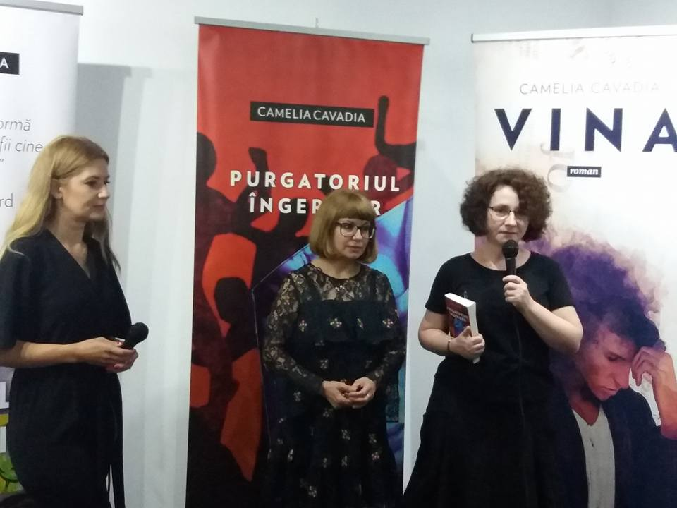 """Camelia Cavadia a lansat cel de-al treilea roman, """"Purgatoriul ingerilor"""""""