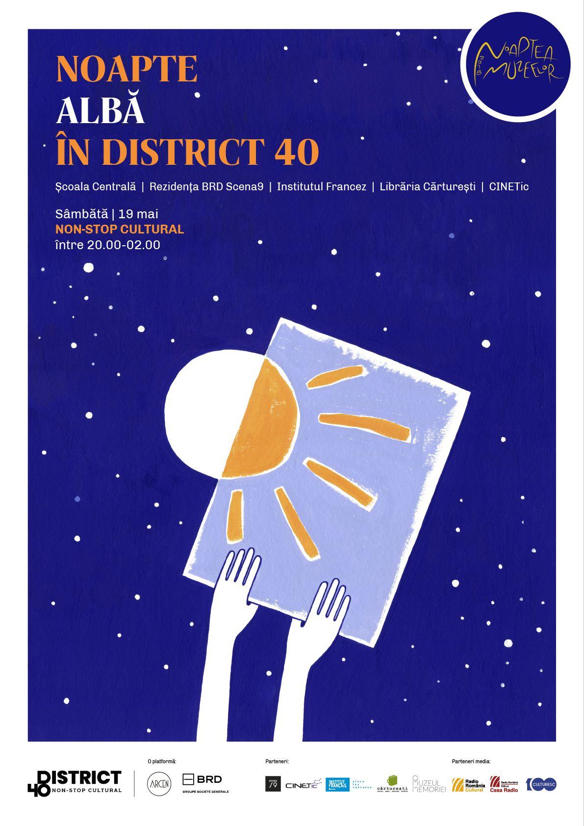 Noul cartier cultural District 40: premiera cu instalatii interactive, casti neuronale, video mapping si tururi ghidate