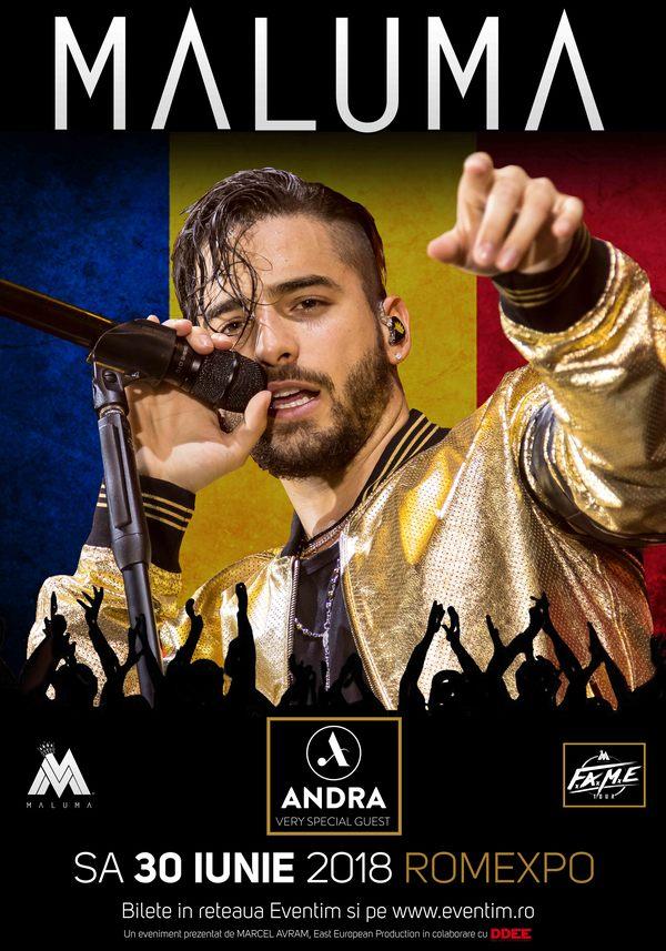 """Maluma concerteaza, la Bucuresti, in cadrul celui mai mare festival de muzica latino, """"El Carrusel"""""""