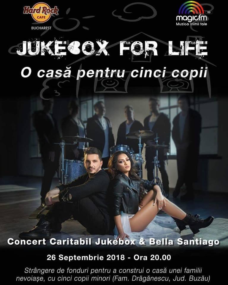 Jukebox si Bella Santiago canta pentru viata pe 26 septembrie, la Hard Rock Cafe Bucuresti
