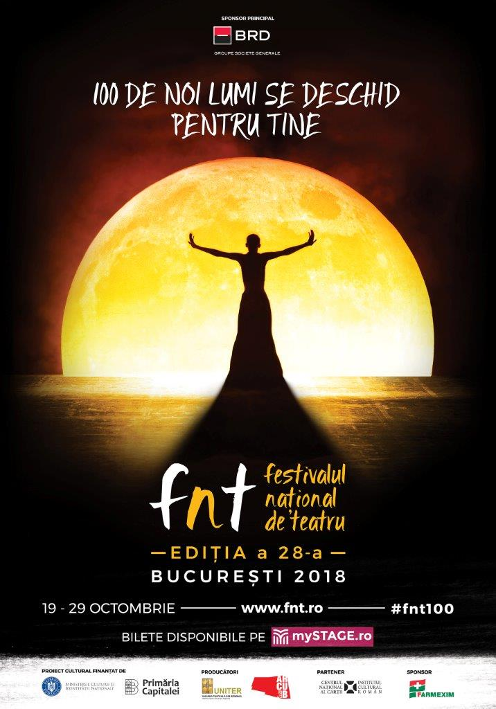 Selectia oficiala a spectacolelor din Festivalul National de Teatru 2018