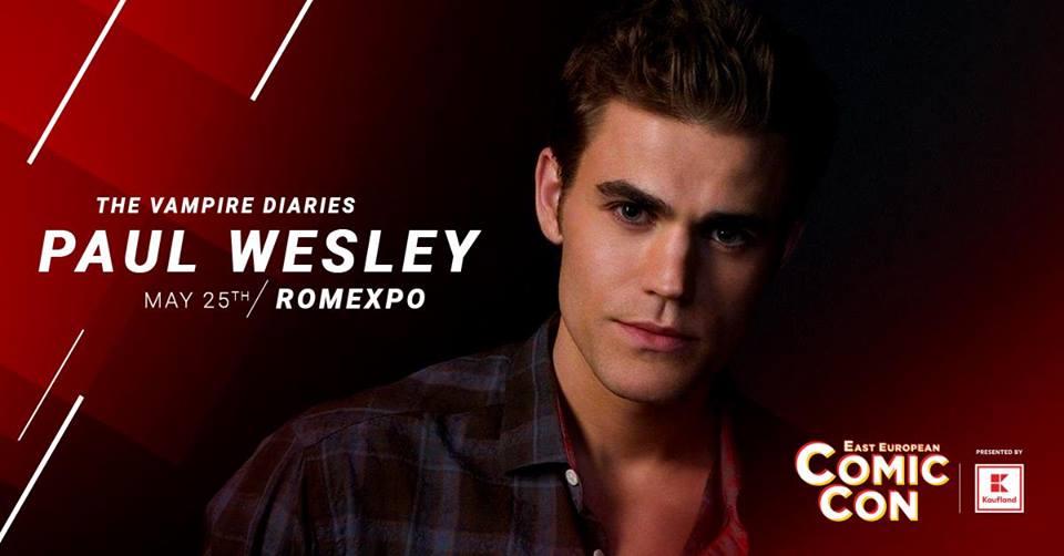 """Paul Wesley – """"The Vampire Diaries""""- vine in Romania, la Comic Con 2019!"""