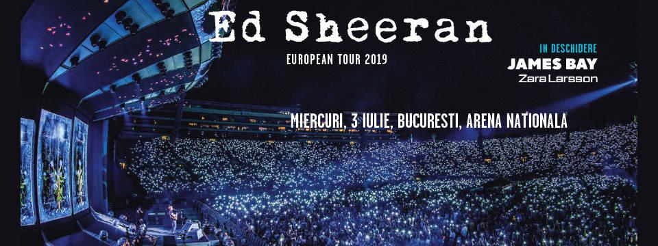 Ed Sheeran pe 3 iulie la Arena Nationala din Bucuresti – program si reguli de acces