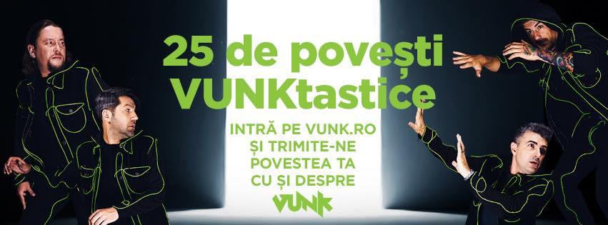 VUNK cauta 25 de povesti VUNKtastice! Fanii trupei pot aparea pe coperta urmatorului album