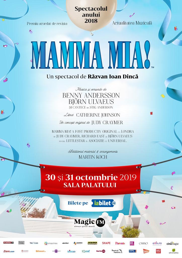 """""""Mamma Mia!"""" – musicalul care a cucerit peste 60 de milioane de spectatori din intreaga lume, pe 30 si 31 octombrie, la Sala Palatului"""