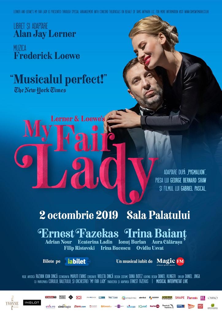 """MUSICALUL """"MY FAIR LADY"""" SE JOACA PE 2 OCTOMBRIE, LA SALA PALATULUI"""