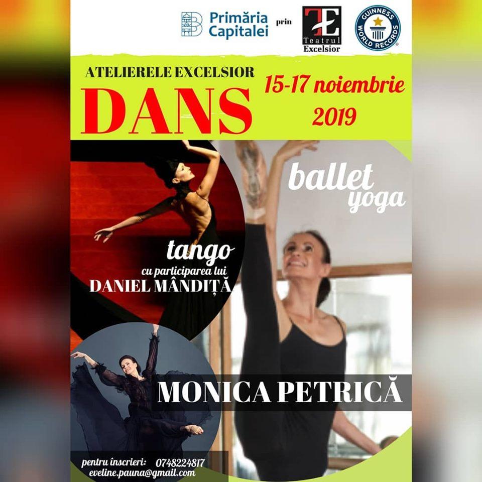 Atelierele Excelsior – dans, la a treia editie, cu participarea  distinsei coregrafe Monica Petrica