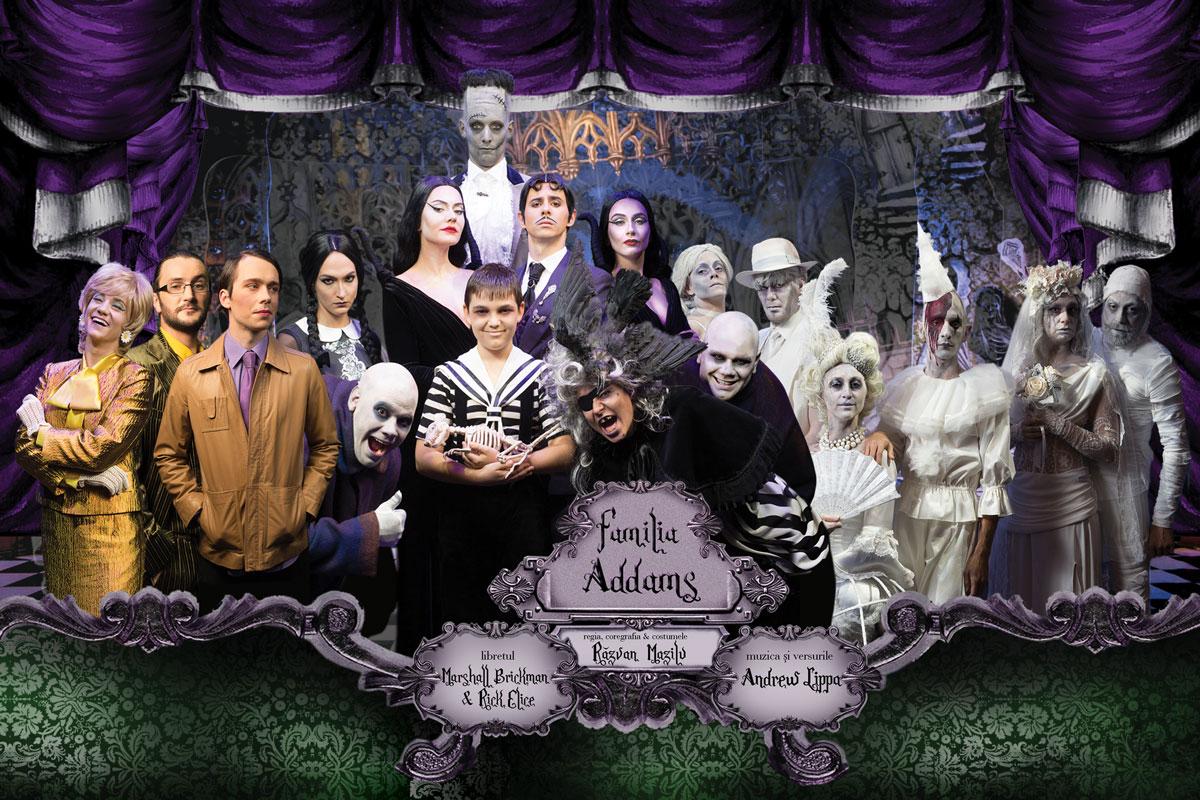 """CONCURS! Castiga o invitatie dubla la """"Familia Addams"""" – 30 octombrie @Teatrul Excelsior"""