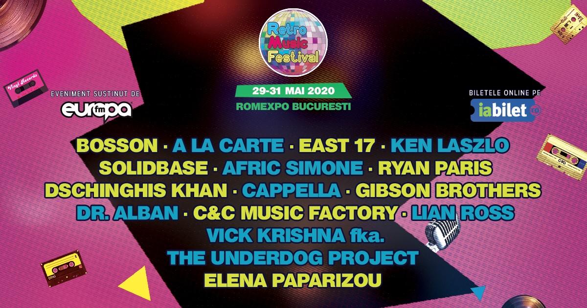 Dr. Alban, Elena Paparizou & Bosson vin la Retro Music Festival, editia a II-a, Bucuresti