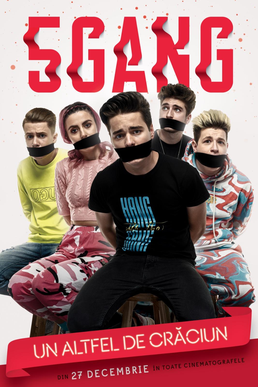 """De astazi sunt disponibile biletele in avans pentru filmul """"5GANG: Un altfel de Craciun"""", lansat in cinematografe pe 27 decembrie"""