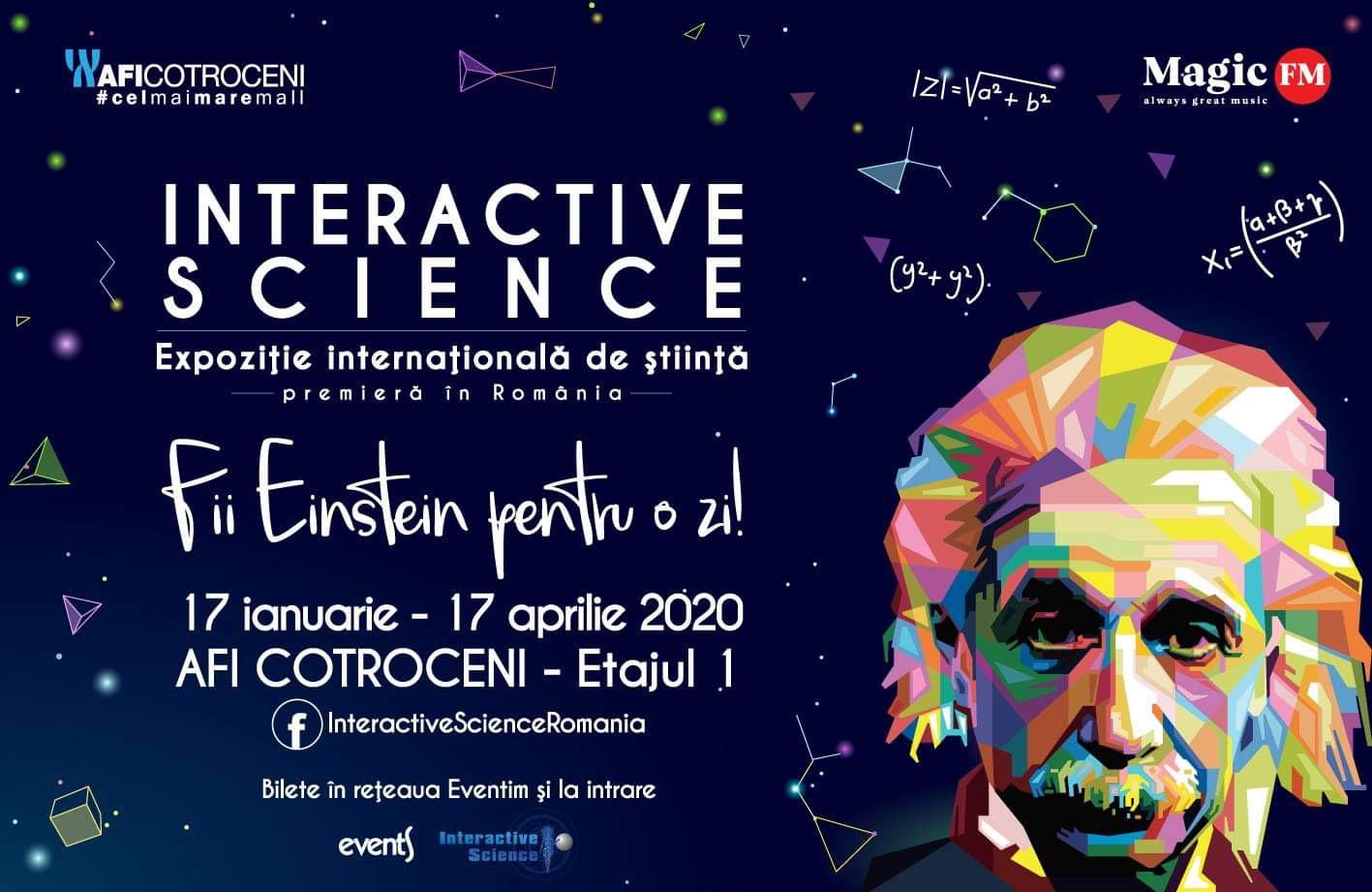 Expozitia internationala de stiinta Interactive Science are loc intre 17 ianuarie – 17 aprilie, in premiera la Bucuresti